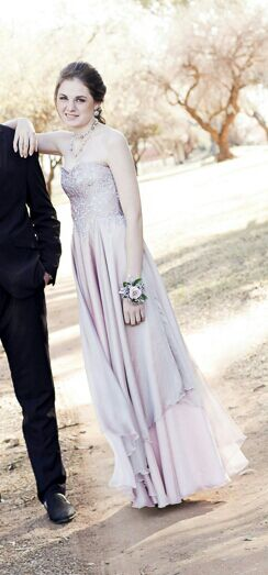 Dusty Pink And Silver Lace Soft And Flowy Matric Farewell